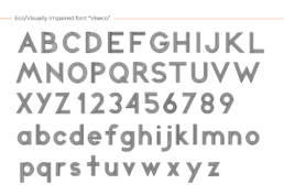 Viseco (2020) Eco-visually impaired font